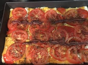 In the pan ready to cook Anchovy Detroit