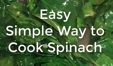 Simple Easy Spinach, Garlic and Olive Oil